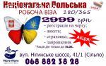 Робоча ВІЗА в Польщу на 180 днів всього 2999 грн.