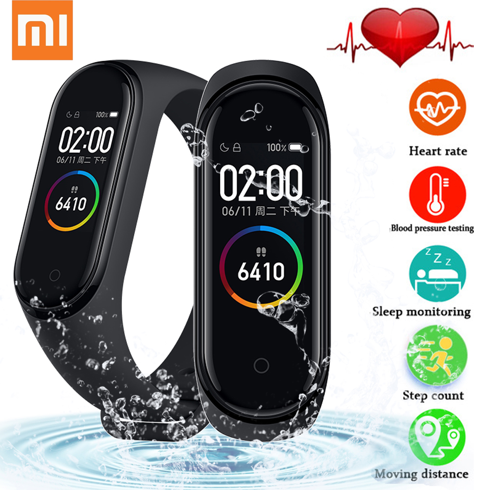Original Xiaomi Mi Band 4 Smart Bracelet Heart Rate Monitor Xiaomi Mi Band 4 Global version with NFC Smart Watch