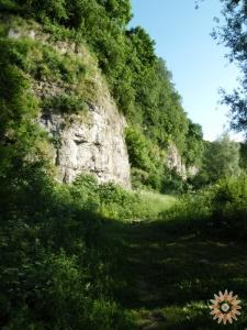 Каньон, 100 метрів  від дамби